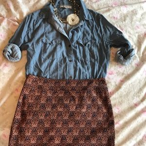 Pencil skirt with stretch size 6